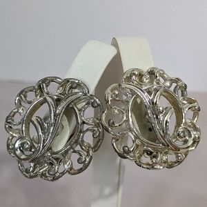 Vintage Silver Sarah Coventry Clip Earrings